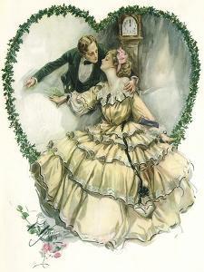 Couple in Heart by Harrison Fisher