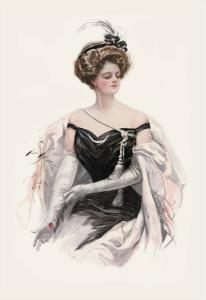 Elegance in Black by Harrison Fisher