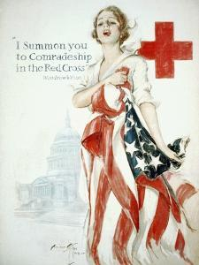 I Summon You to Comradeship in the Red Cross, Woodrow Wilson by Harrison Fisher