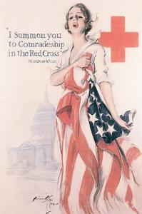 I Summon You To Comradeship In The Red Cross by Harrison Fisher