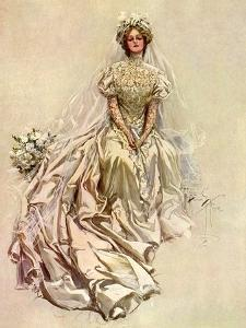 Pensive Bride, 1908 by Harrison Fisher