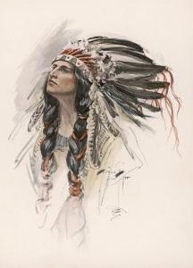 Portrait of Hiawatha by Harrison Fisher