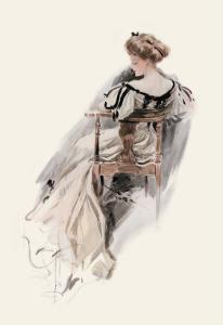 She Sports a Witching Gown by Harrison Fisher