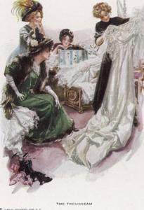The Wedding Trousseau by Harrison Fisher