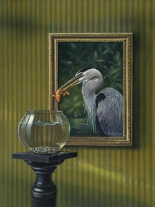 Heron and Goldfish by Harro Maass