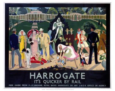 Harrogate Busy Park--Art Print