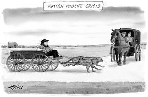 Amish Midlife Crisis - New Yorker Cartoon by Harry Bliss