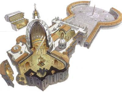 An Illustration of the Basilica and Piazza of St. Peter