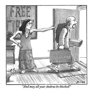 """""""And may all your chakras be blocked!"""" - New Yorker Cartoon by Harry Bliss"""