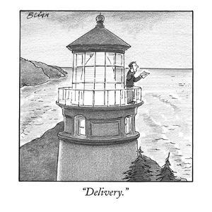 """Delivery."" - New Yorker Cartoon by Harry Bliss"