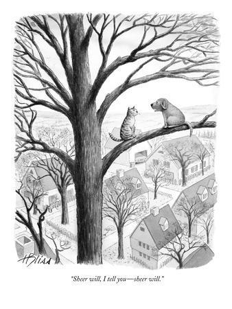 """Sheer will, I tell you?sheer will."" - New Yorker Cartoon"