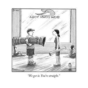 """""""We get it. You're straight."""" - New Yorker Cartoon by Harry Bliss"""