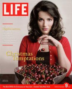 British TV Chef and Cookbook Author Nigella Lawson with Bowl of Cherries, December 9, 2005 by Harry Borden