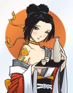 Japanese cutie by Harry Briggs