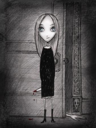 Lulu with knife
