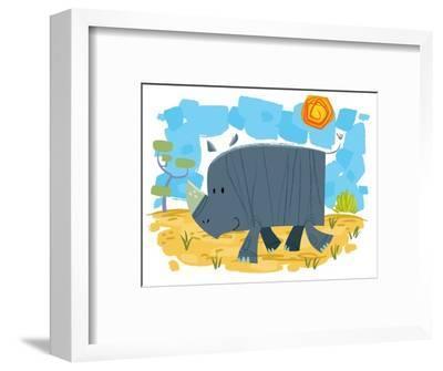 Smiling rhinoceros
