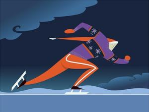 Speed skater by Harry Briggs