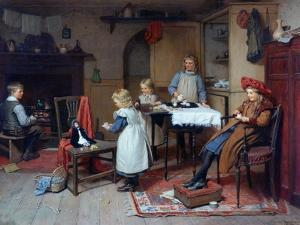 Afternoon Tea, 1895 by Harry Brooker