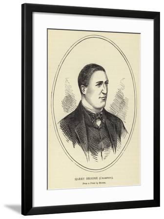 Harry Broome, Champion, from a Print by Moore--Framed Giclee Print