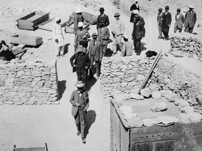 Unofficial opening of the Tomb of Tutankhamun, Valley of the Kings, Egypt, 1922
