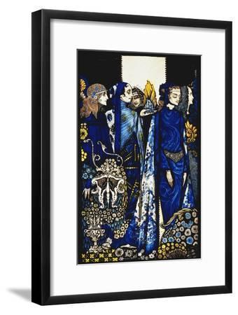 Etain, Helen, Maeve and Fand, Golden Deirdre's Tender Hand'. 'Queens', Nine Glass Panels Acided,…