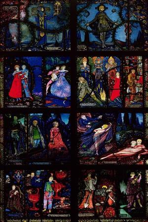 The Geneva Window, Eight Panels Depicting Scenes from Early Irish Literature, 1929