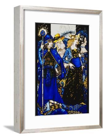 The Queens of Sheba, Meath and Connaught'. 'Queens', Nine Glass Panels Acided, Stained and…