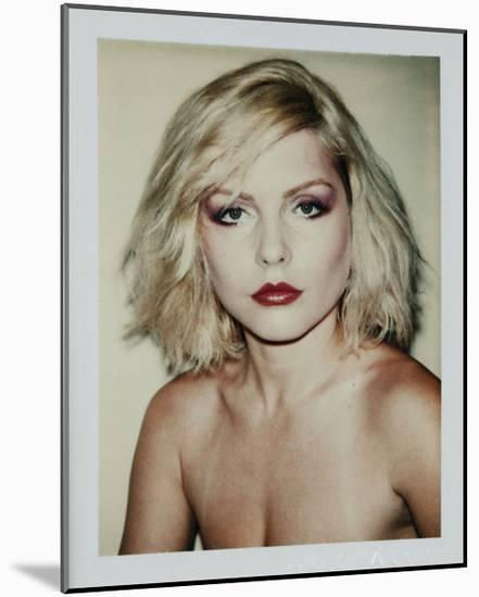 Harry, Debbie 1980 (Polaroid)-Andy Warhol-Mounted Art Print