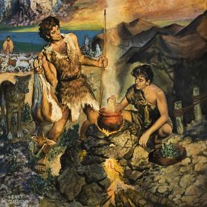 Esau Sells His Birthright by Harry G^ Seabright