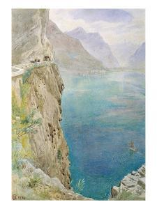 On the Italian Coast, 1896 (W/C on Paper) by Harry Goodwin