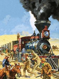 Butch Cassidy and the Sundance Kid Hold Up a Union Pacific Railroad Train by Harry Green