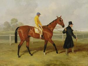 Sir Tatton Sykes (1772-1863) Leading in the Horse 'sir Tatton Sykes', with William Scott Up, 1846 by Harry Hall
