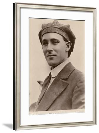 Harry Hawker, Australian Aviator and Co-Founder of Hawker Aircraft--Framed Photographic Print