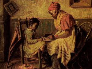 Playing Checkers by Harry Herman Roseland