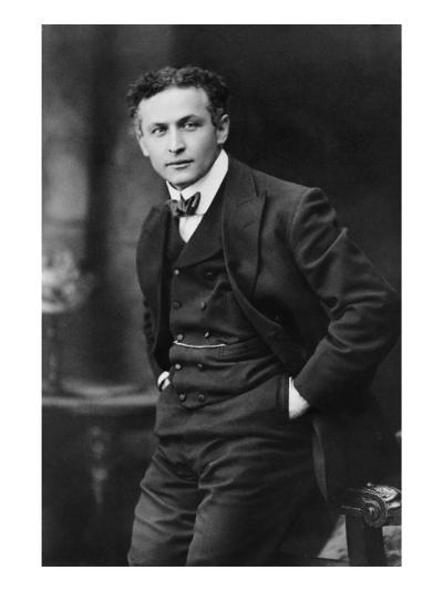 Harry Houdini, American Magician Famous for His Escape Acts. 1913 Portrait by Gray Campbell--Photo