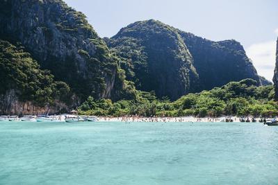 Paradise: the Beach, Maya Beach at Koh Phi Phi Leh, Thailand, Andaman Sea
