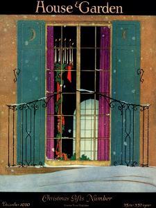 House & Garden Cover - December 1920 by Harry Richardson