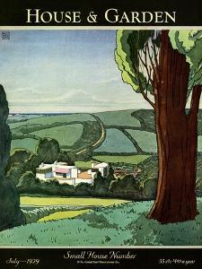 House & Garden Cover - July 1929 by Harry Richardson
