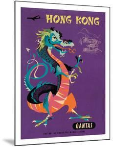 Hong Kong - Qantas Airways - Chinese Treasure Dragon by Harry Rogers