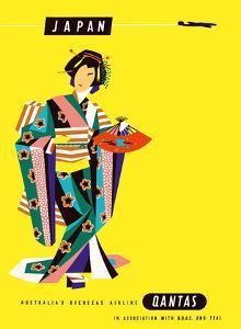 Japan - Qantas Airways - Japanese Geisha by Harry Rogers