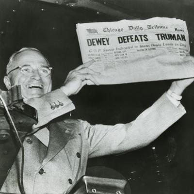Harry S. Truman, President-Elect, Holds Up Edition of Chicago Daily Tribune