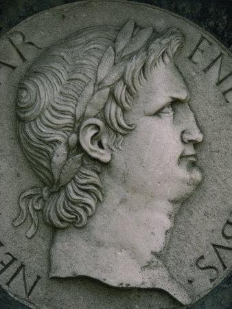Emperor Nero in Marble, Certosa Di Pavia, Lombardy, Italy, Europe