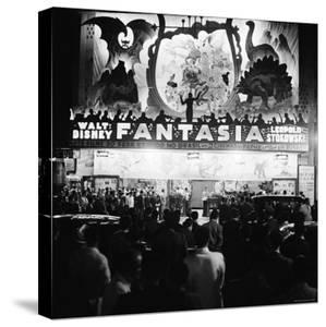 """Audiences Gathered Outside Theater For the Brazilian Premiere of Walt Disney's """"Fantasia"""" by Hart Preston"""