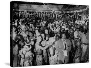 Entertainer Orson Welles Attending the Rio de Janerio Carnival Celebration by Hart Preston