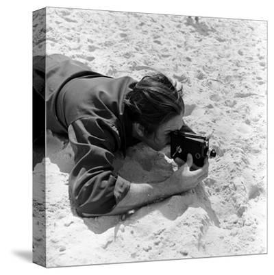 Walt Disney Using Camera in Rio De Janeiro, Brazil, 1941 by Hart Preston