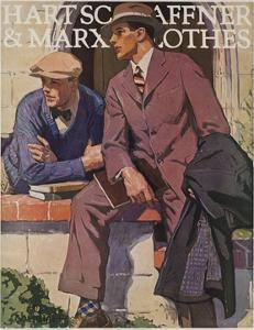 Hart Schaffner and Marx American Clothes Adverising Poster College Boys
