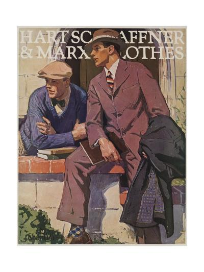 Hart Schaffner and Marx American Clothes Adverising Poster College Boys--Giclee Print