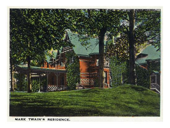 Hartford, Connecticut - Mark Twain's House-Lantern Press-Art Print