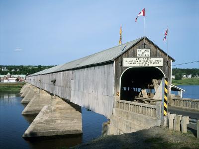 Hartland Bridge, New Brunswick, Canada--Photographic Print