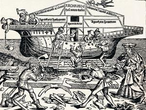 The Building of the Ark Superintended by Noah, (1493), 1903 by Hartmannus Schedel